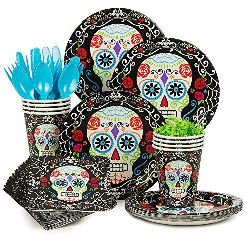 limited-set-day-of-the-dead-party-deluxe-tableware-kit-serves-18-party-supplies