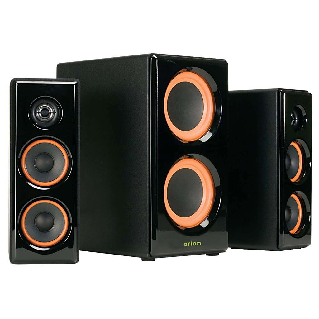Stereo speakers audio speakers with powered subwoofer home for Woofer speaker system