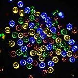 lederTEK Solar Christmas Lights 72ft 22m 200 LED 8 Modes Solar Fairy String Lights for Outdoor, Gardens, Homes, Wedding, Christmas Party, Waterproof (200 LED Multi-color)