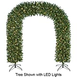 """8'Hx95""""W Arch Door Pine Lighted Artificial Christmas Tree w/Stand -Green"""