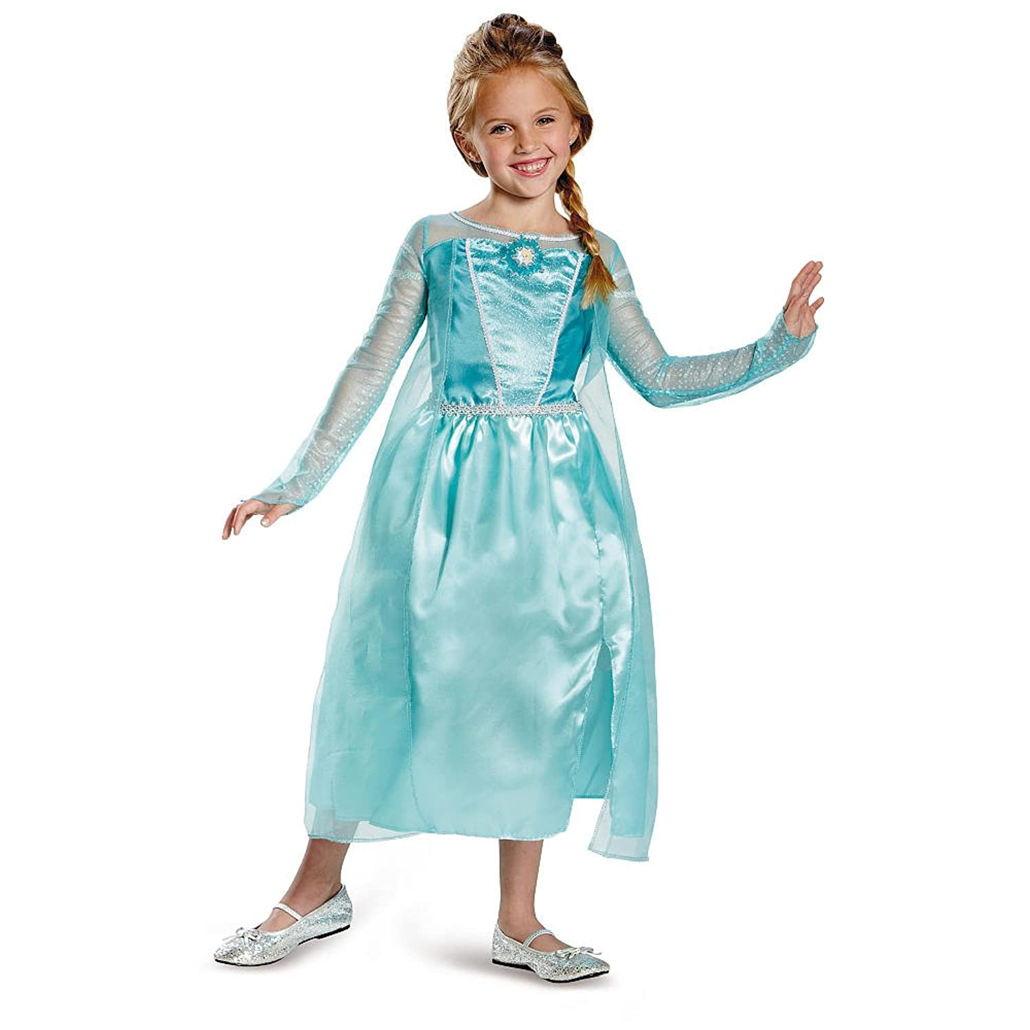 Disney Frozen Elsa Halloween Costume Size Small (4-6X) kids girls elsa dress princess tutu dress baby girl christmas halloween cosplay costume children party festival birthday dresses