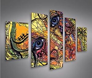 Mosaic beauty mf 5 quadri moderni su tela pronti da for Stampe da appendere