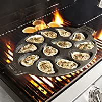 Sur La Table Cast Iron 12-Cavity Oyster Pan