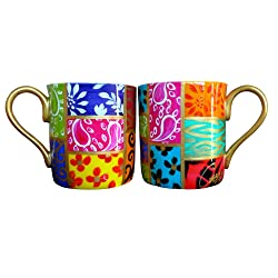 beautiful rainbow mugs