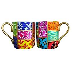 beautiful rainbow mugs