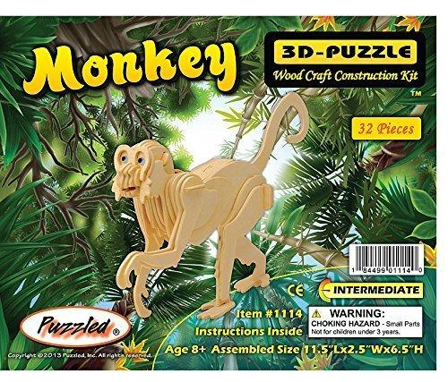 Monkey - Creatology Wooden 3-D Puzzle