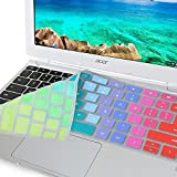 "GMYLE Rainbow Silicon Keyboard Cover for Acer 11.6"" Chromebook CB3-111-C670 CB3-111-C8UB"