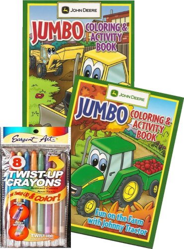 John Deere Tractor Coloring Book Set with Twist-up Crayons Price in ...