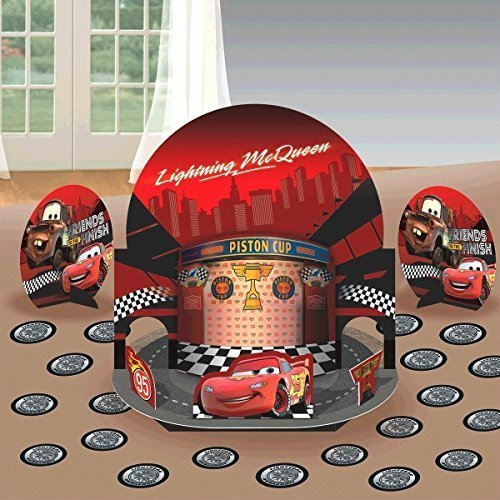New Disney Cars Party Table Decorations Kit ( Centerpiece Kit ) 23 PCS - Kids Birthday and Party Supplies Decoration