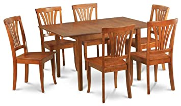 7-Pc Dining Set with Folding Table