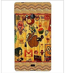 PrintDhaba Graffiti D-5097 Back Case Cover for MICROSOFT LUMIA 540 (Multi-Coloured)