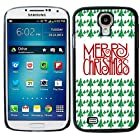 Christmas Case Cover for Samsung Galaxy S4 Green Tree White Red Merry Christmas