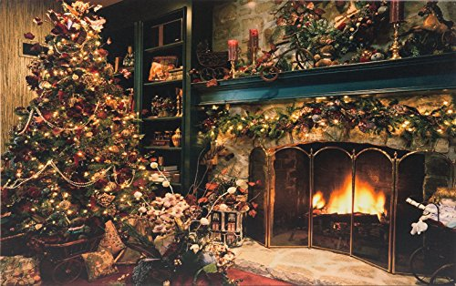 heitronic led bild christbaum 600x400mm beleuchtetes bild kamin und weihnachtsbaum im wohnzimmer. Black Bedroom Furniture Sets. Home Design Ideas