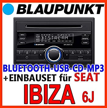 Seat ibiza 6J anthracyte-noir-bLAUPUNKT-new jersey 220 bT-cD/mP3/uSB avec kit de montage d'autoradio bluetooth