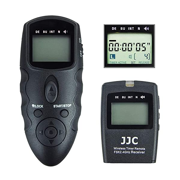 JJC Timer Remote Control Shutter Release for Nikon Z6 Z7 D750 D610 D600 D7500 D7200 D7100 D7000 D5600 D5500 D5300 D5200 D5100 D5000 D3300 D3200 D3100 D90 Df Coolpix A P7800 P7700 P1000 as Nikon MC-DC2