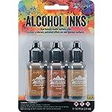 Ranger Adirondack Alcohol Ink 1/2-Ounce 3/Pkg, Cabin Cupboard, Caramel/Ginger/Latte (AAI-20691) (Color: Cabin Cupboard, Tamaño: 1-Pack)