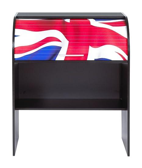Simmob COACH100NO701 Union Jack Bureau Cylindre Bois Noir 56,5 x 84,8 x 100 cm