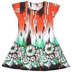 Rush Me Baby Girls' Dress (S.R.1003_4 Years, 4 Years, Green)