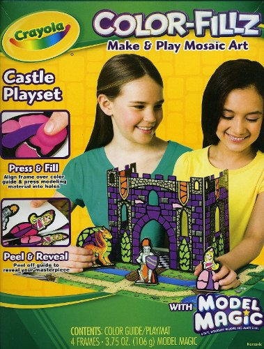Crayola - Color-Fillz - Make & Play Mosaic Art Kit - Castle Playset