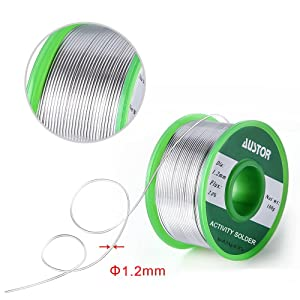 AUSTOR 1.2mm Lead Free Solder Wire with Rosin Core