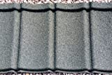 Plastic Roofing Tiles; Ideal for Conservatories, Sheds, Log Cabins (Granite Grey)