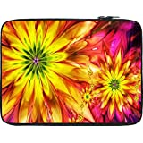 Snoogg Bright Fractal Daisies 2597 12 To 12.6 Inch Laptop Netbook Notebook Slipcase Sleeve