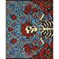 Grateful Dead ~ Blue Skeleton ~ Micro Raschel Fleece Throw Blanket
