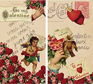 HomArt Large Decorative Valentines Love Letter Arrows and Cupid Matches