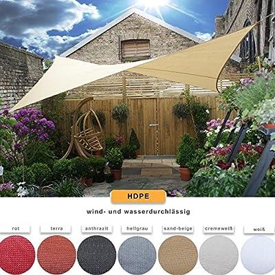 CelinaSun Sonnensegel Sonnenschutz Garten Balkon Terrasse Tarps HDPE atmungsaktiv Dreieck rechtwinklig von CelinaSun auf Gartenmöbel von Du und Dein Garten