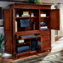 Hot Sale Antigua West Indies Cherry Computer Armoire West Indies Cherry