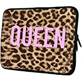 "Snoogg Queen Leopard Print 10"" 10.5"" 10.6"" Inch Laptop Notebook Slipcase Sleeve Soft Case Carrying Case For Macbook Pro Acer Asus Dell Hp Sony Toshiba"