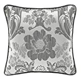 Croscill Everly Square Pillow, Silver