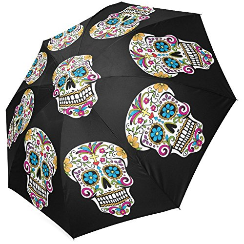 Grrl Cool Sugar Skull Print foldable Umbrella YS060544