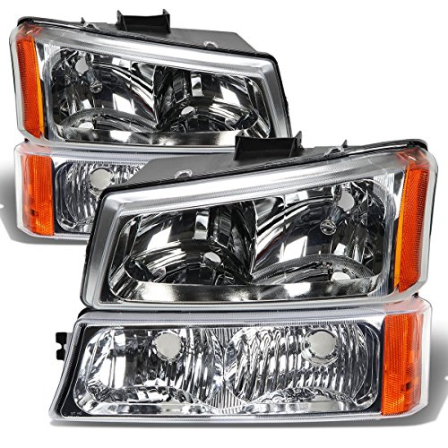 DNA Motoring HLOHCS034PCHAM Headlight Assembly (Driver & Passenger Side) (2002 Avalanche Headlight Assembly compare prices)