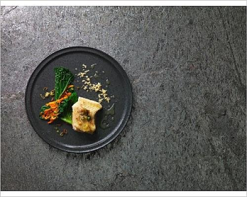 photographic-print-of-steamed-sturgeon-fillet-with-an-elderflower-emulsion-and-savoy-cabbage