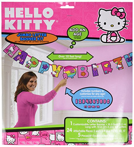 Amscan Hello Kitty Rainbow Jumbo Add-An-Age Banner