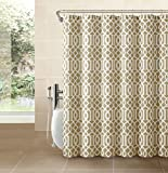 Victoria Classics Aaron Heavy Duty Textured Fabric Shower Curtain - Assorted Colors (Taupe)