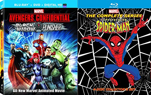Marvel The Spectacular Spider-Man: The Complete Series & Avengers Confidential: Black Widow & Punisher Blu ray Cartoon Super Heroes