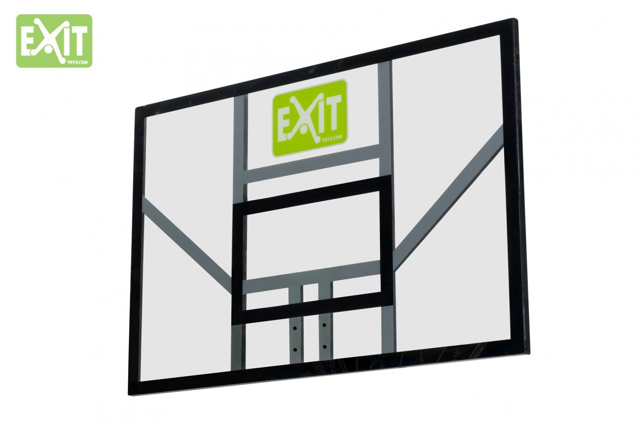 EXIT Galaxy Board 46.40.10.00 / Basketballrückwand / Material: Polycarbonat (Plexiglas) / Maße: 116 x 77 cm /schwarz-grün / Gewicht: 8,3 kg