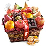 Golden State Fruit Happy Valentines Day Delight Fruit and Gourmet Basket