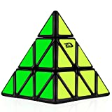 D-FantiX Pyramid Speed Cube 3x3 Triangle Magic Cube Puzzle Black (Color: Black)