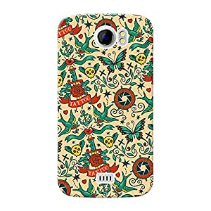 Mobile Back Cover For Micromax Canvas 2 Plus (A110Q) (Printed Designer Case)