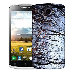Snoogg Falling Dry Leaves Designer Protective Phone Back Case Cover For Lenovo S920