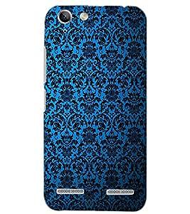 PrintDhaba BLUE PATTERN D-6327 Back Case Cover for LENOVO LEMON 3 (Multi-Coloured)