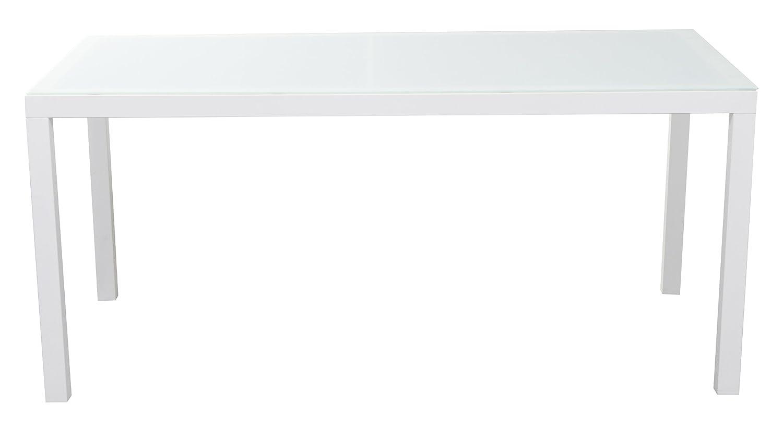 """Steinbach Gartentisch Tisch """"Elba"""", Konstruktion aus Aluminium, pulverbeschichtet, 5mm Glasplatte gehärtet und mattiert, Weiß, 161 x 90 x 71 cm günstig kaufen"""