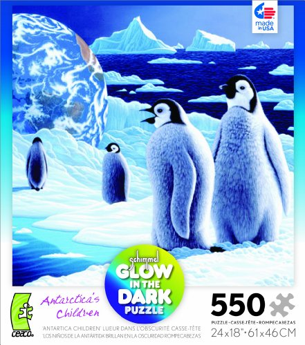 Schimmel Glow in The Dark Antarctica's Children 550 Piece Jigsaw Puzzle