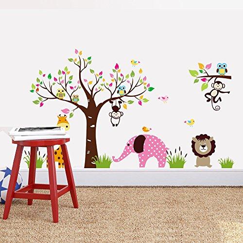 Wall Decoration Of Kindergarten : Wall sticker baby nursery elephant decal diy animal