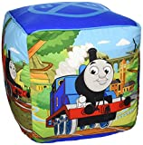 "Thomas the Tank Engine Fun 12"" Kids Square Ottoman, Seat, Foot Rest Cube Chair Pillow"
