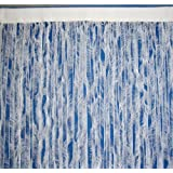 Homescapes String Curtain White, Polyester feather, Designer Door Curtain Panels, 200cm or 79 Inch drop.by Homescapes