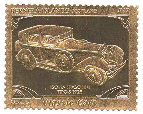 22k-carat-gold-leaf-auto-classic-cars-stempel-issota-fraschini-tipo-8-1928-bernera-islands-schottlan
